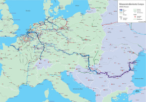 A map of the european waterway system